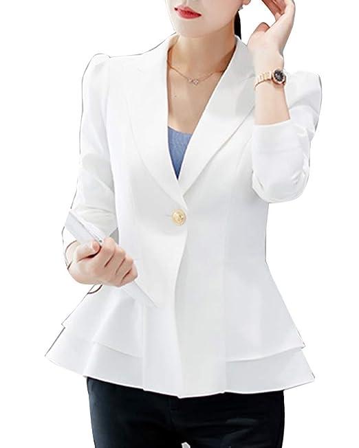 release date 4ea57 910f2 Blazer Donna Manica Lunga Basic Slim Fit Elegante Ufficio ...