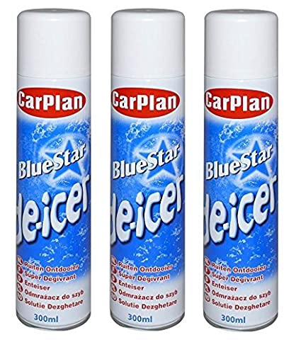 CarPlan Bluestar Aerosol para deshacer hielo, 300 ml: Amazon.es: Coche y moto