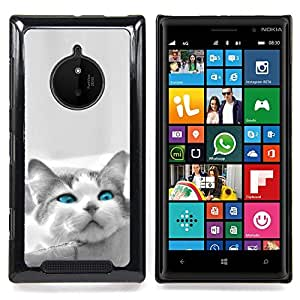 For Nokia Lumia 830 - The Blue Eye Cat Dise???¡Ào Protecci????n Cubierta de la caja ultra delgada de Snap de pl????stico duroco duro - God Garden -
