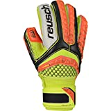 Reusch Soccer Pulse Pro M1 Ortho-Tec Junior Goalkeeper Glove, Orange/Yellow, Size 7