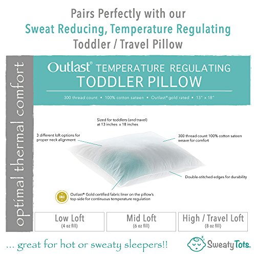 f50d13fa64 Toddler Pillow for Hot Or Sweaty Sleepers - 13 x 18