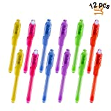 Joyjam Toys for 3-8 Year Old Boys Girls Invisible Ink Pen Spy Gear for Kids Magic Pen with UV Light Party Favors for Kids Christmas Novelty Gifts Stocking Stuffers (12 Pack)