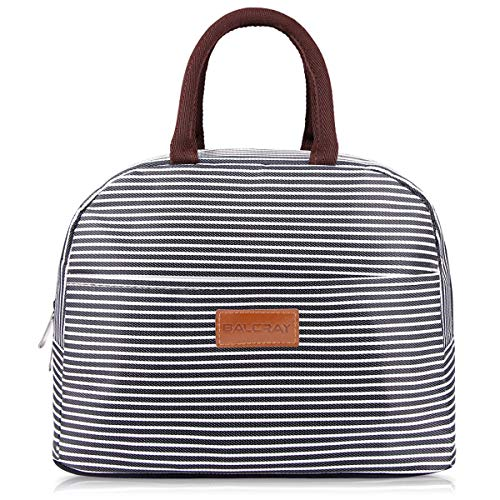 BALORAY Lunch Bag Tote Bag Lunch Bags for Women Men Lunch Organizer Lunch Holder Insulated Lunch Cooler Bag for Women/Men (Black) ()