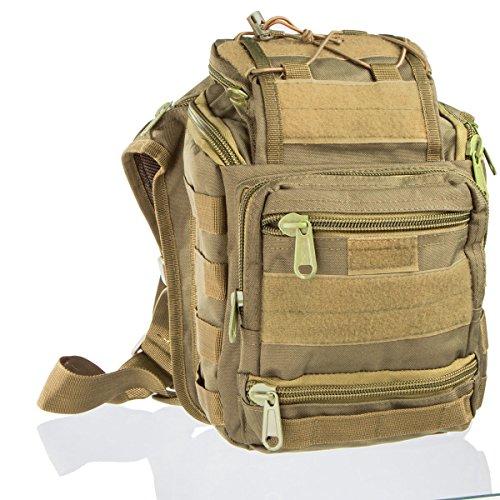 Borsa Tactical Messenger Bag Zaino impermeabile per viaggio e outdoor