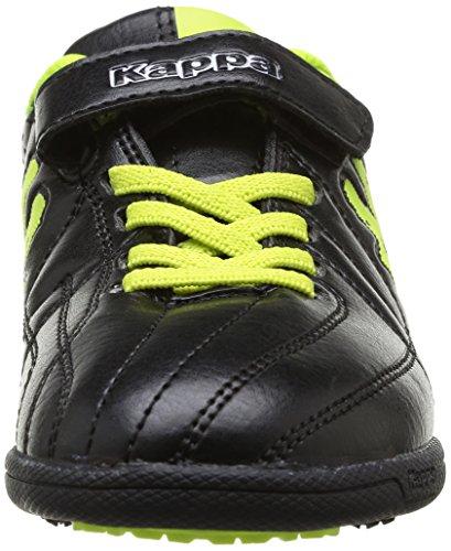 Kappa Kappa 4 Soccer Player Tg Elastic-Velcro - Zapatillas de Deportes de Exterior de material sintético niño negro - Noir (Black/Yellow)