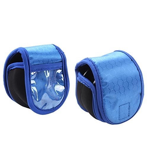 M MAXIMUMCATCH Maxcatch 2 Pieces Fly Fishing Reel Pouch, Neoprene Fly Reel Cover/Case, 3 Color Available (Blue)