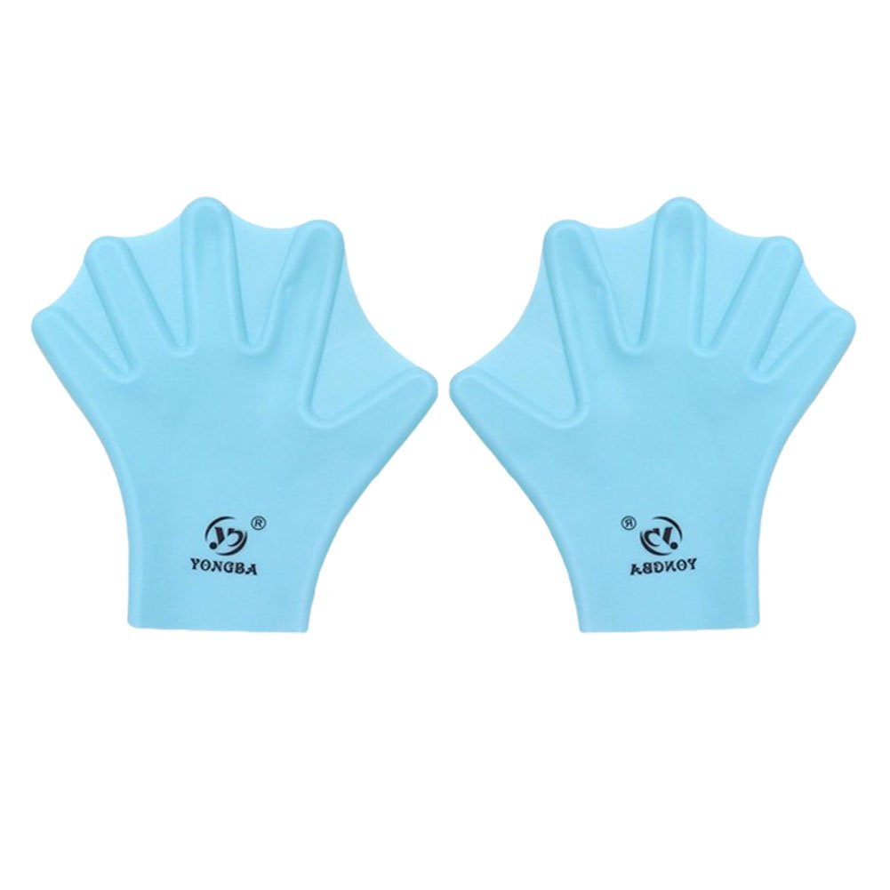 Water Gear Silicone Swim Webbed Gloves for Kids, 2pcs (Blue)