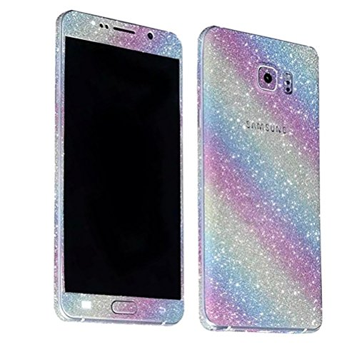 Just Mode(TM)Glittering Style Full Body Bling Glitter Diamond Film Sticker Case Cover Protector for Samsung Galaxy Note5-Rainbow
