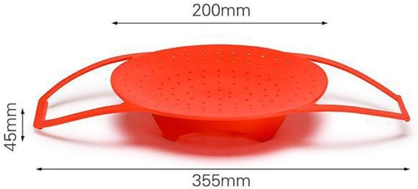 rosso S BESTONZON Cestino per vapore in silicone con manico per pentola istantanea