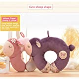 Metoo Premium body Neck Travel Pillow-Ergonomic Support Cervical Pillow-Cute Stuffed Sheep Toy - Comfort Pure Cotton Material Animal Puppets - The Great Plush Sheep Gifts for Lover-Purple