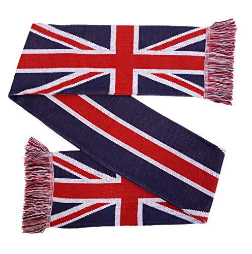 UK Union Jack United Kingdom Flag Knit Scarf