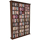 "Venture Horizon Media Storage Tower 76"" Tall Triple - Dark Walnut"