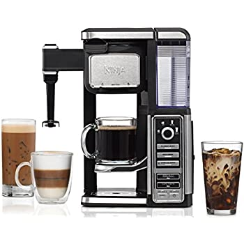 Ninja Single-Serve, Pod-Free Coffee Maker Bar with Hot and Iced Coffee, Auto-iQ, Built-In Milk Frother, 5 Brew Styles, and Water Reservoir (CF112) ...