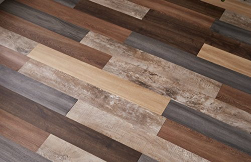 Nance Industries Versaplank Peel and Stick Stain Proof Vinyl Plank Flooring, 6