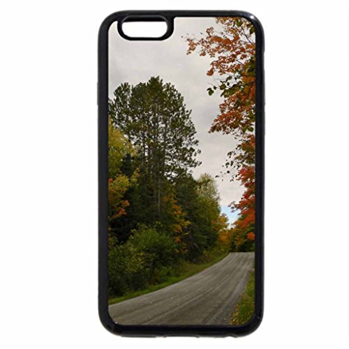iPhone 6S Case, iPhone 6 Case (Black & White) - Autumn Along A Country Back Road