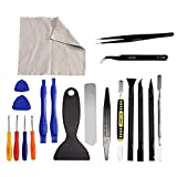 JVMAC 20 in 1 Disassembly Tool Set and Repair Tools Kit Set For Smartphones/Tablets Ultrathin Steel Professional Opening Pry Tool Repair Kit with Non-Abrasive Nylon Spudgers and Anti-Static Tweezers