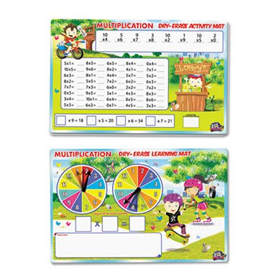 SpinnerZ Dry Erase Learning Mat, Multiplication by SmartDudesâ''¢ (Image #3)