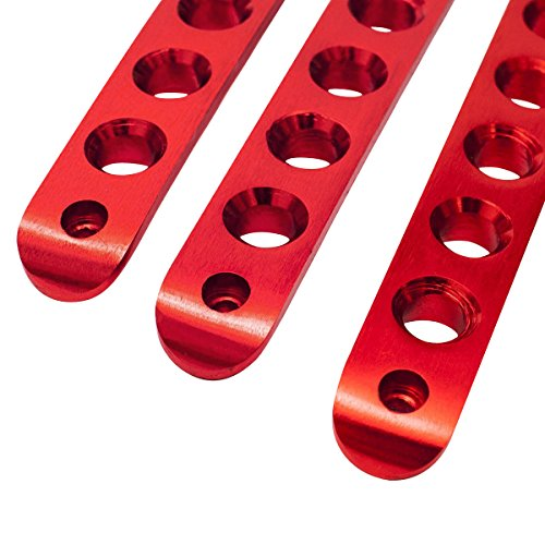 5pcs RED Aluminum Grab Handle Covers For 2007-2017 Jeep Wrangler 4 Door JK New