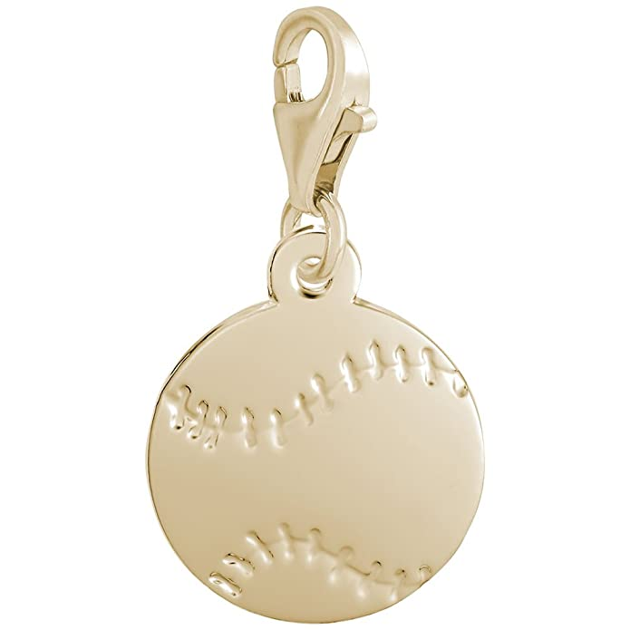 Charms for Bracelets and Necklaces 10k Yellow Gold Zebra Charm With Lobster Claw Clasp