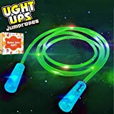 Halloween Decorations Led Light Up Toys Jump Rope for Kids Girls Boys Flashing Colorful Glow in the Dark Skipping Rope Fun Toy Best Birthday Holiday Gifts with Exquisite Box Black to School