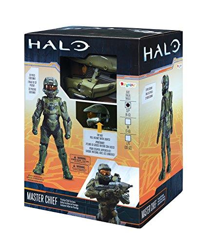 51aYYCbEENL - Master Chief Ultra Prestige Halo Microsoft Costume, Large/10-12