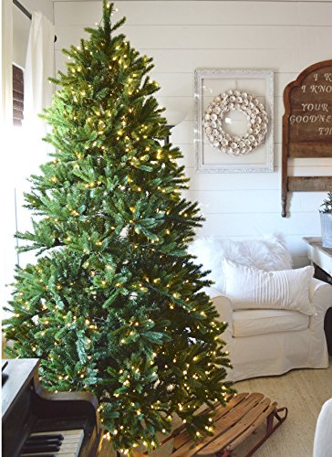 amazoncom king of christmas 9 foot king fraser fir quick shape artificial christmas tree with 1200 ul warm white led lights home kitchen