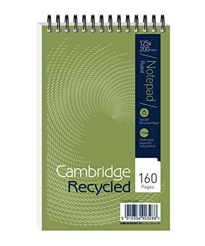 [RECYCLED SPIRAL NOTEBOOK 125X200 F15002] (Cambridge Recycled Wirebound Notebook)