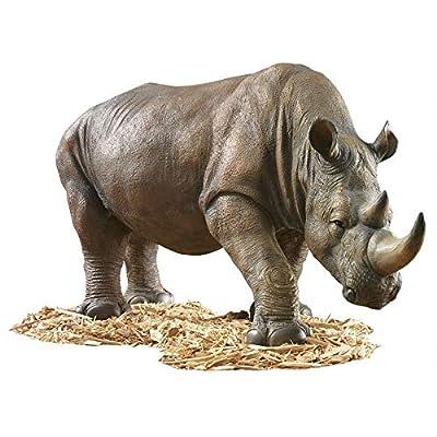 Design Toscano KY71133 South African Rhino Outdoor Garden Statue, 34 Inch, full color : Outdoor Statues : Garden & Outdoor