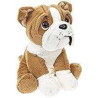 27 cm Cute Sitting British English Bulldog Dog Puppy Teddy Soft Plush Beanie Toy