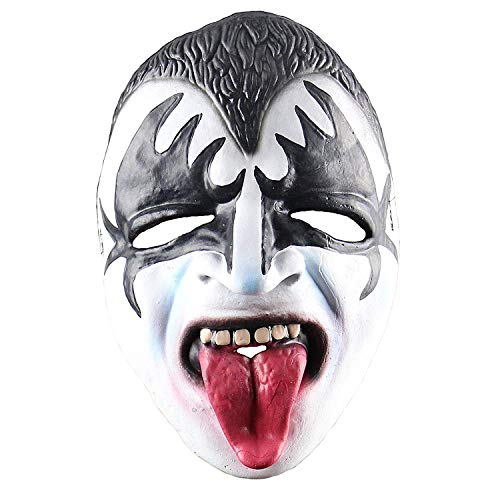 Halloween Horrible Costume Party Props,Kiss Band Gene Simmons Masks