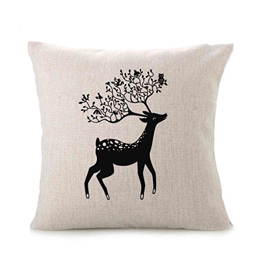 Littay Pillowcase 17inch x 17inch,Cute Animal Sofa Bed Home Decoration Festival Pillow Case Cushion Cover