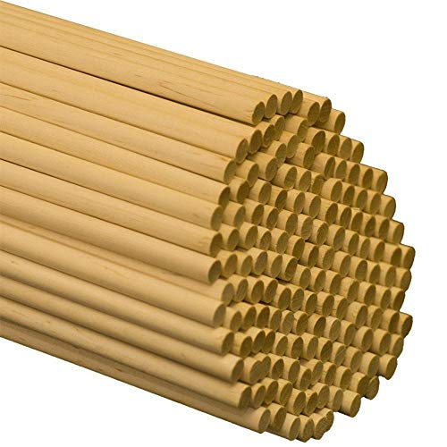 Wooden Dowel Rods 3/8 x 36 Inch, Bag of 25 Dowel Sticks, Unfinished Hardwood Sticks for Crafts and DIYers by Woodpeckers