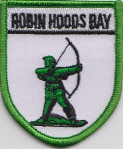 (Yorkshire Robin's Hood Bay Embroidered Badge)