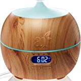 ArtNaturals Essential Oil Diffuser and Humidifier with Bluetooth Speaker Clock and Alarm – Electric Cool Mist Aromatherapy for Office/Home/Bedroom/Baby Room 7 Color LED Lights, 400 mL