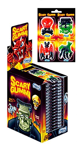 (Vidal Scary Gummi Monster Collection 4 Packs (Case of 18) )