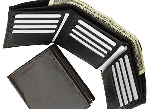Leather Marshal Tri fold Wallet Black