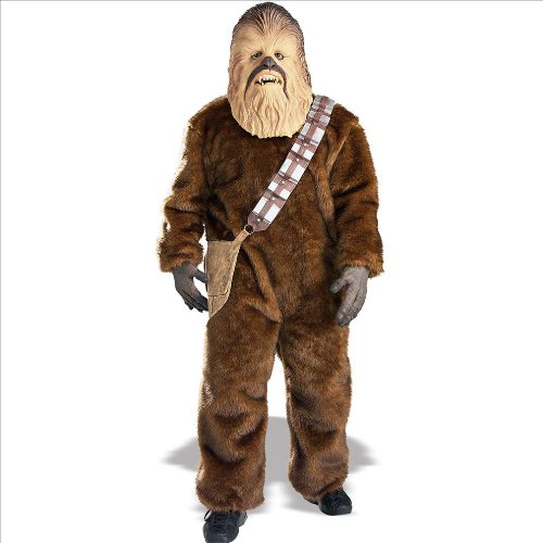 Chewbacca Girl Costumes (Rubie's Men's Star Wars Deluxe Chewbacca Costume, Size Standard)