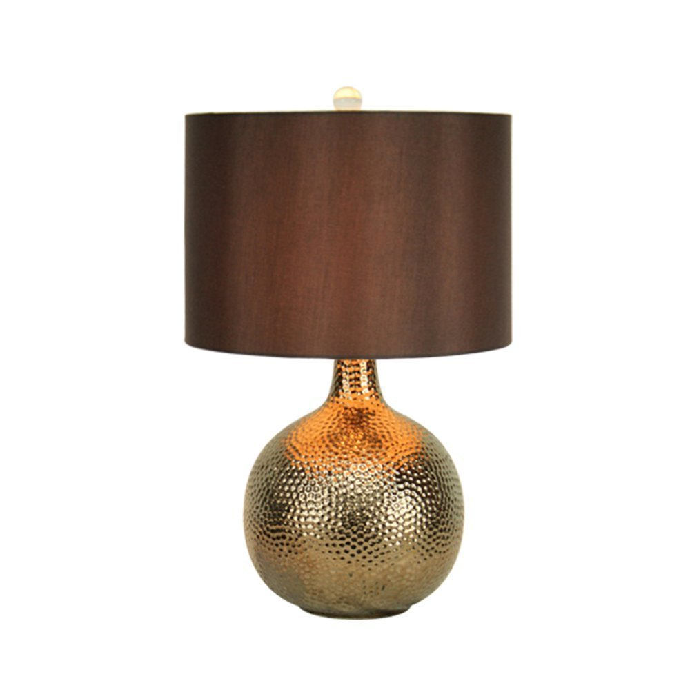 HOMEE Ideal reading light-- ceramic table lamp american retro gold luxury modern creative fashion table lamp bedroom bedside living room table lamp --desk and bedside lighting,Power Switch Button