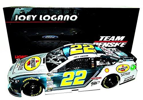 AUTOGRAPHED 2014 Joey Logano #22 Pennzoil Racing PLATINUM SILVER (Penske) SIGNED Lionel 1/24 NASCAR Diecast Car...