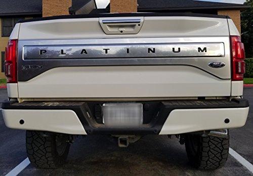 Black BDTrims Tailgate Plastic Letters Inserts fits 2015-2017 F-150 Platinum Models