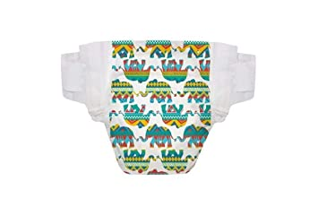 The Honest Company Diapers, Elephant Party, Size 1 (8-14 lbs)
