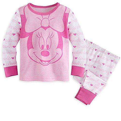 Disney Minnie Mouse PJ PALS Pajamas for Baby Size 0-3 MO Pink