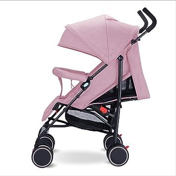 QZX Cochecito de bebé Plegable con Sistema de Seguridad de 5 Puntos y Asiento reclinable de múltiples Posiciones Edad aplicable 1-3 años Cochecito para bebé ...