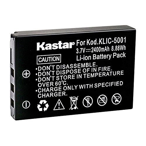 (Kastar Rechargeable Battery K5001 Replacement for Kodak KLIC-5001 Battery and Kodak EasyShare DX6490 DX7440 DX7590 DX7630 P712 P850 P880 Z730 Z760 Z7590 Digital Cameras)