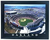 Framed Oakland Stadium Network Associates 2003 Aerial Wall Art Print F7577A
