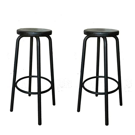 Cool Amazon Com Xlcz Metal Bar Stool Set Of Two Bar Chairs Cjindustries Chair Design For Home Cjindustriesco