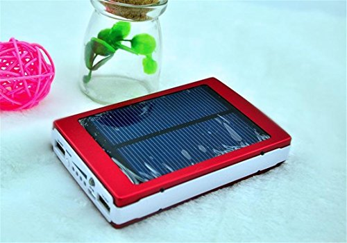 HYT Mart 30000mAh Solar Power Bank Backup Battery Charger for GPS PDA Mobile Phone, Red