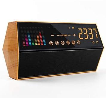 OESFL Pantalla táctil led Reloj Digital con Altavoz/Radio Regalo ...