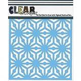 Clear Scraps CSSMGEO12 Stencils, 12'' x 12'', Geo Pattern, Blue