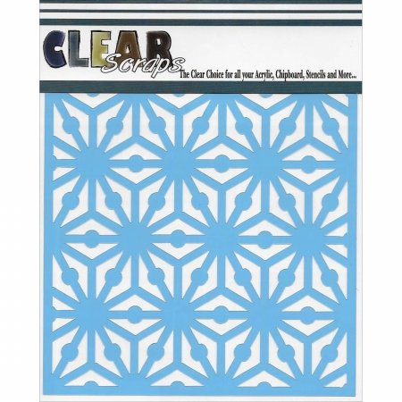Clear Scraps CSSMGEO12 Stencils, 12'' x 12'', Geo Pattern, Blue by CLEARSNAP